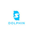 letter s with dolphin icon logo vector image vector image