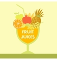 logo fruit juice Multifruit Smoothies vector image