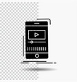 media music player video mobile glyph icon on vector image