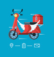 motorcycle flying of logistic service vector image vector image