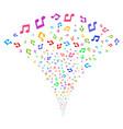 music fountain stream vector image vector image