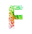 Music theme grungy font Letter F vector image
