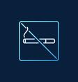 no smoking colored outline icon on dark vector image