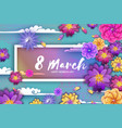 origami spring banner paper cut exotic tropical vector image