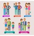 people logo design template happy family vector image vector image
