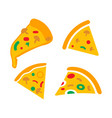 pizza icon design set bundle template isolated vector image