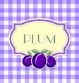 Plum label vector image vector image