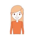 portrait cartoon woman smiling character vector image vector image