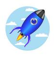 rocket launch ship vector image