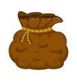 santa money bag sack symbol icon design vector image vector image