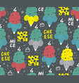 seamless pattern with cartoon rats and mice vector image vector image