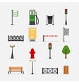 street element icons vector image vector image