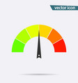 tachometer or speedometer icon on background mode vector image vector image