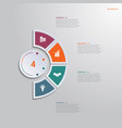 template infographic 4 positions for text area vector image vector image