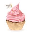 Thank You Cupcake vector image vector image