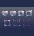 transparent heart bubble burst sprites vector image vector image