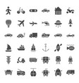 transport solid web icons vector image