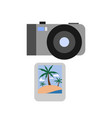 travel photo camera summer icon design vector image vector image