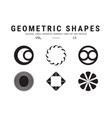 universal geometric shapes set vector image
