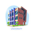 university construction or building for education vector image vector image