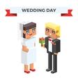 Wedding 3d couples cartoon style vector image vector image