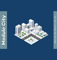 winter isometric city vector image vector image