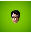 with an asian guy face glasses in polygonal