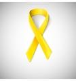 Yellow ribbon loop vector image vector image