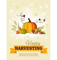 Happy Thanksgiving Day celebration flyer vector image