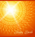 diwali festival greeting card with rangoli vector image