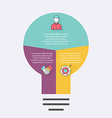 light bulb infographic Infographic for vector image