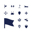 13 direction icons vector image vector image