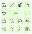 14 icons icons vector image vector image