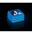3d glossy socialnetwork icon vector image vector image
