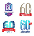 60 Years Anniversary Symbol vector image vector image