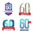 60 Years Anniversary Symbol vector image