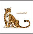 a cartoon jaguar isolated on a white background vector image