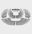 a set different black and white wings vector image vector image