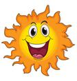 A very happy sun vector image