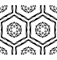 Abstract Black Rose Tile Pattern vector image vector image