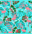 abstract flamingo pattern vector image vector image