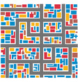 abstract multicolor city vector image