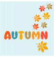 Autumn lettering with fall leaves vector image