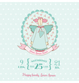 Baby Shower and Arrival Cards - Doll theme vector image vector image