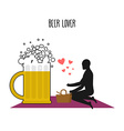 Beer lover Lovers on picnic Rendezvous in Park Mug vector image