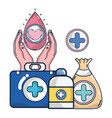 blood donation campaign cartoons vector image vector image