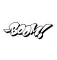 boom font in graffiti style vector image
