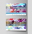 business card templates abstract design vector image vector image