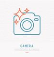 camera thin line icon for photographer logo vector image