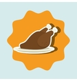 chicken meat isolated icon design vector image